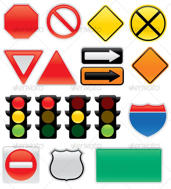 Traffic road map clipart