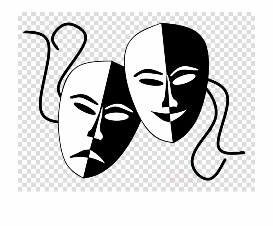 Tragedy masquerade mask clipart clip freeuse stock Theatre Mask Drama Transparent Png Image Clipart Free ... clip freeuse stock