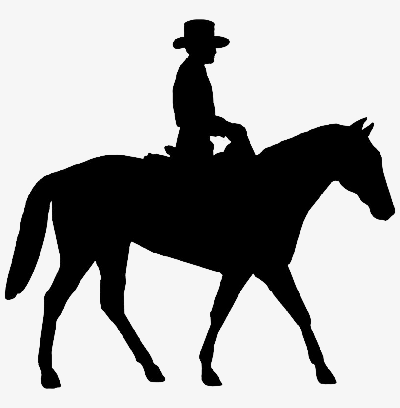 Trail horse cowboy and cowboy drawing clipart picture royalty free Cowboy Silhouette Png Image - Lady Riding Horse Silhouette ... picture royalty free