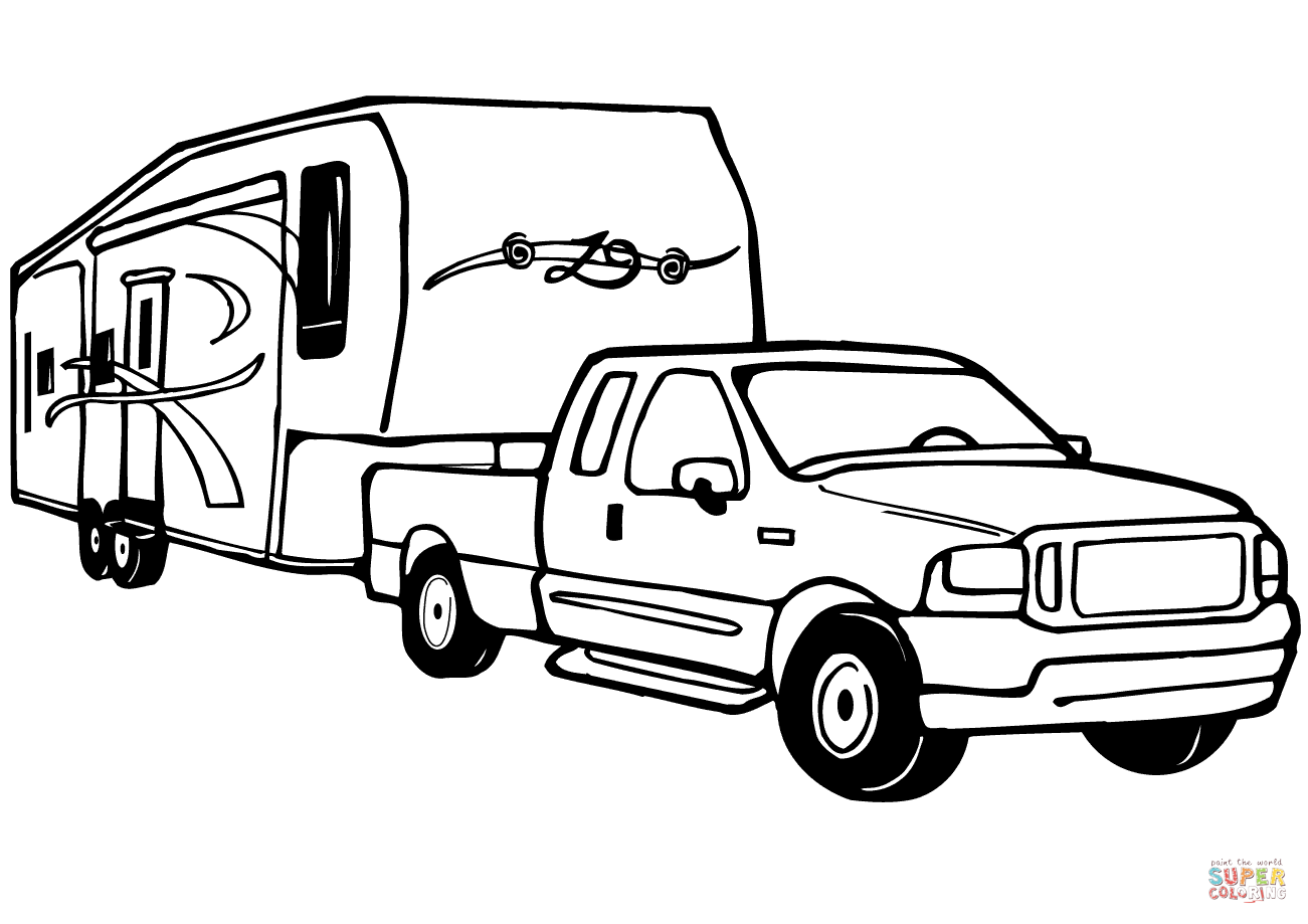 Truck and 5th wheel clipart vector transparent stock Rv Clipart   Free download best Rv Clipart on ClipArtMag.com vector transparent stock