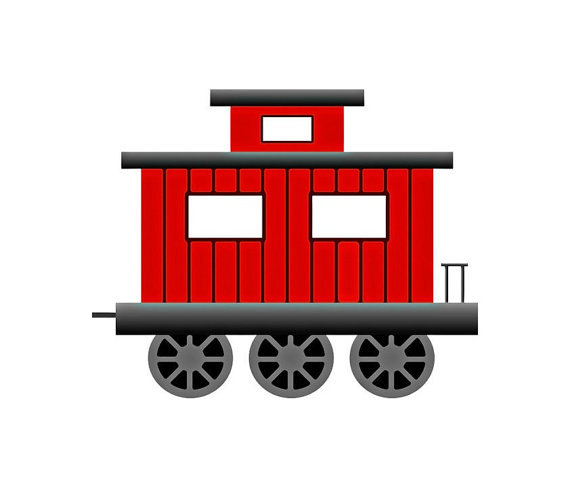 Train with a caboose clipart jpg royalty free library Collection of Caboose clipart | Free download best Caboose ... jpg royalty free library