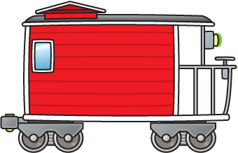 Train with many carts clipart svg royalty free library Train caboose free clip art - WikiClipArt svg royalty free library