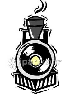 Train engines front view clipart clipart black and white library The Front of a Black Train - Royalty Free Clipart Picture ... clipart black and white library