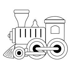 Train engine clipart outline freeuse toy train outline | Coloring and templates | Train coloring ... freeuse