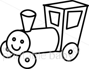 Train engine clipart outline jpg freeuse download Train Engine Outline Clipart | Baby Vehicle Clipart jpg freeuse download