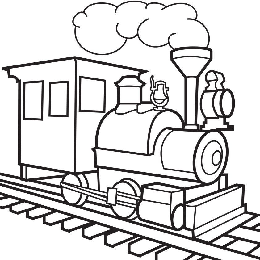 Train engine clipart outline clipart transparent library Train Outline | Free download best Train Outline on ... clipart transparent library