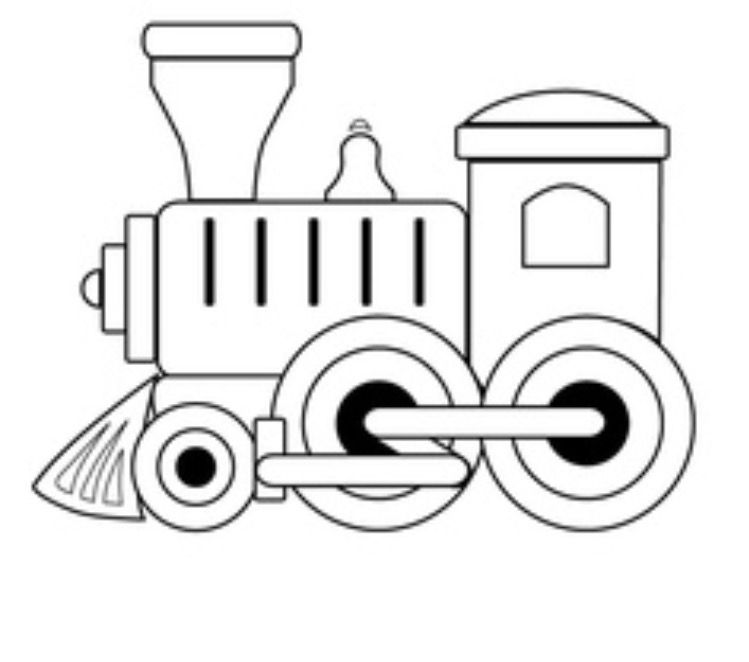 Train engine clipart outline jpg black and white download Pin by Jennifer Turner on Coloring Pages | Train coloring ... jpg black and white download