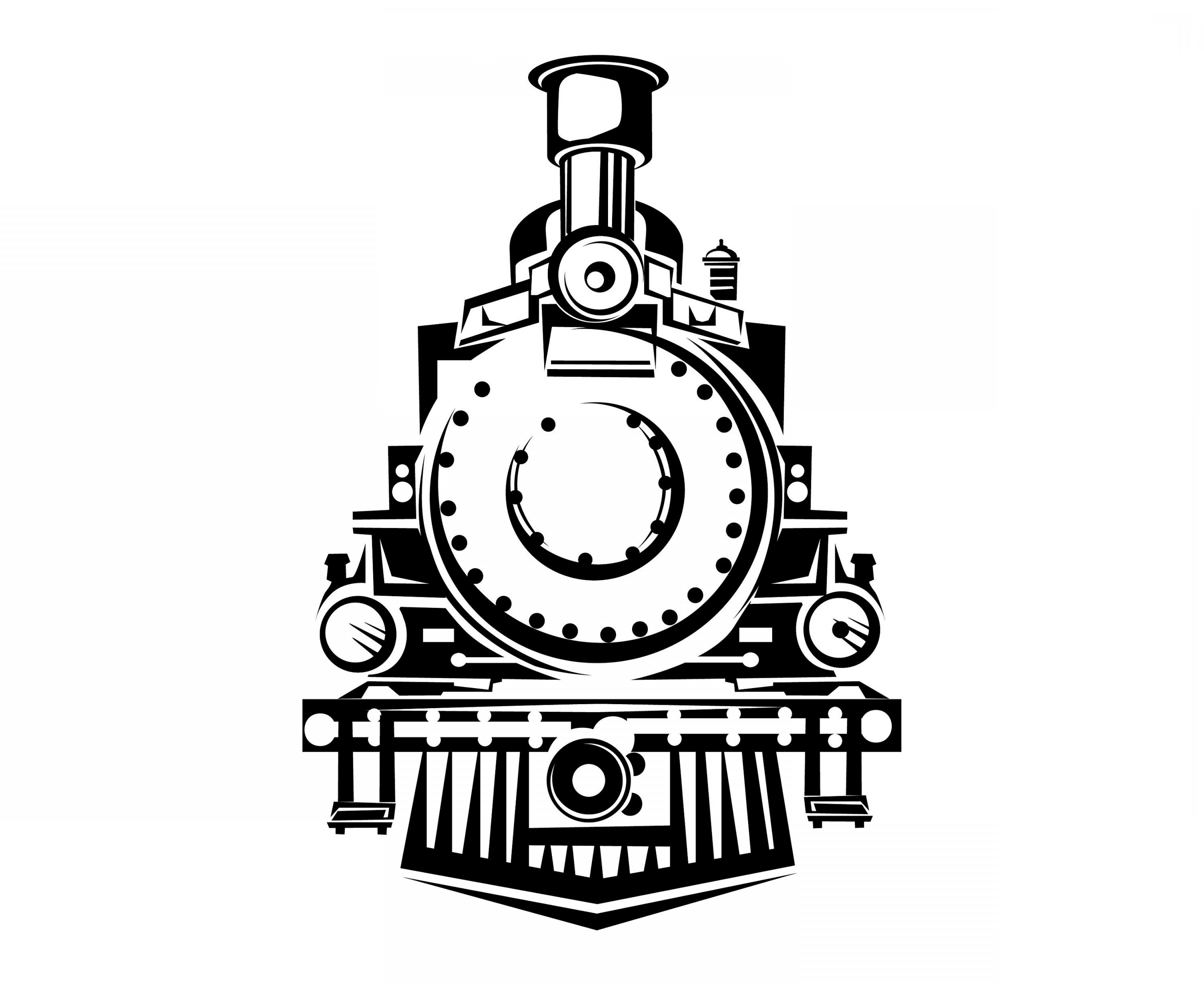 Train front view clipart clip art black and white download Steam Train Train Front View Vintage | CQRecords clip art black and white download