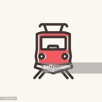 Train front view clipart banner transparent library Front View of The Train Thin Line Icon stock vectors ... banner transparent library
