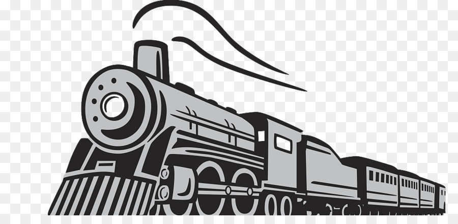 Train head on steam engine black and white clipart banner free download Black Line Background png download - 1024*481 - Free ... banner free download