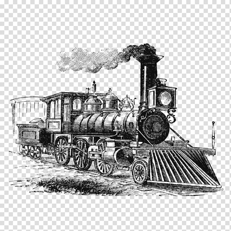 Train head on steam engine black and white clipart black and white Train Industrial Revolution Steam engine Steam locomotive ... black and white