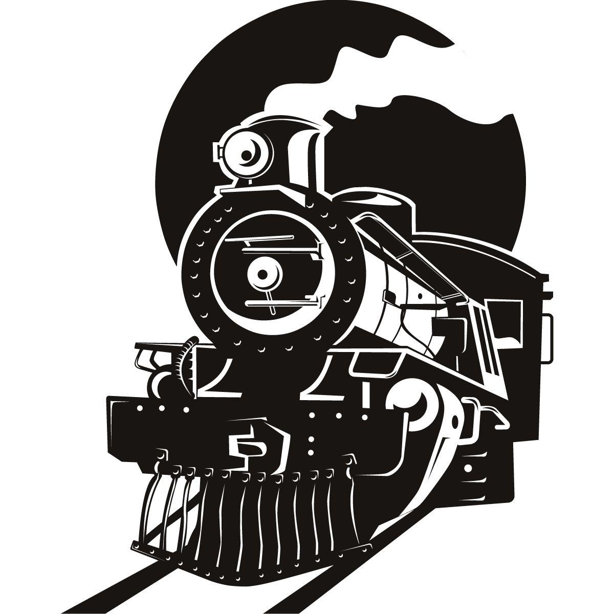 Train logos clipart banner royalty free download Steam Locomotive Silhouette Steam locomotive silhouette ... banner royalty free download
