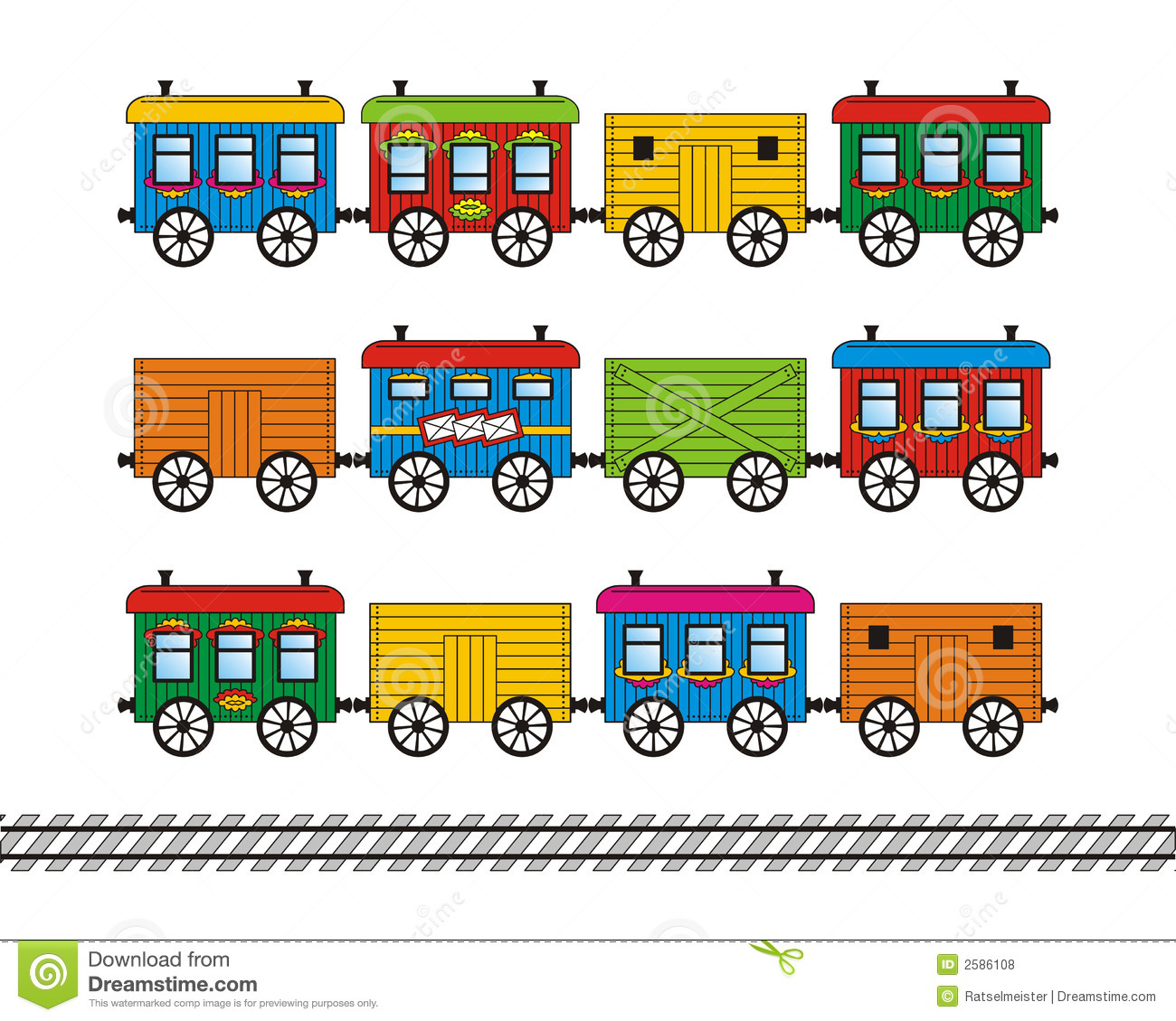 Train stock car clipart svg black and white download Toy Train Cars And Track Set Royalty Free Stock Photos - Image ... svg black and white download