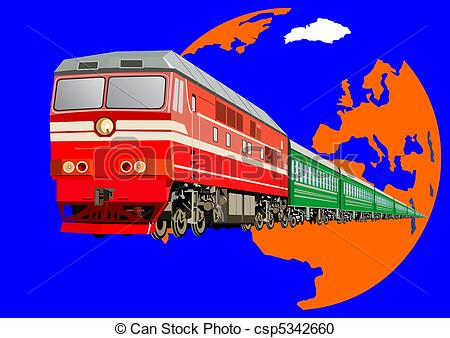 Train stock car clipart png free library Vector Clipart of Passenger train - Railway transport. Passenger ... png free library