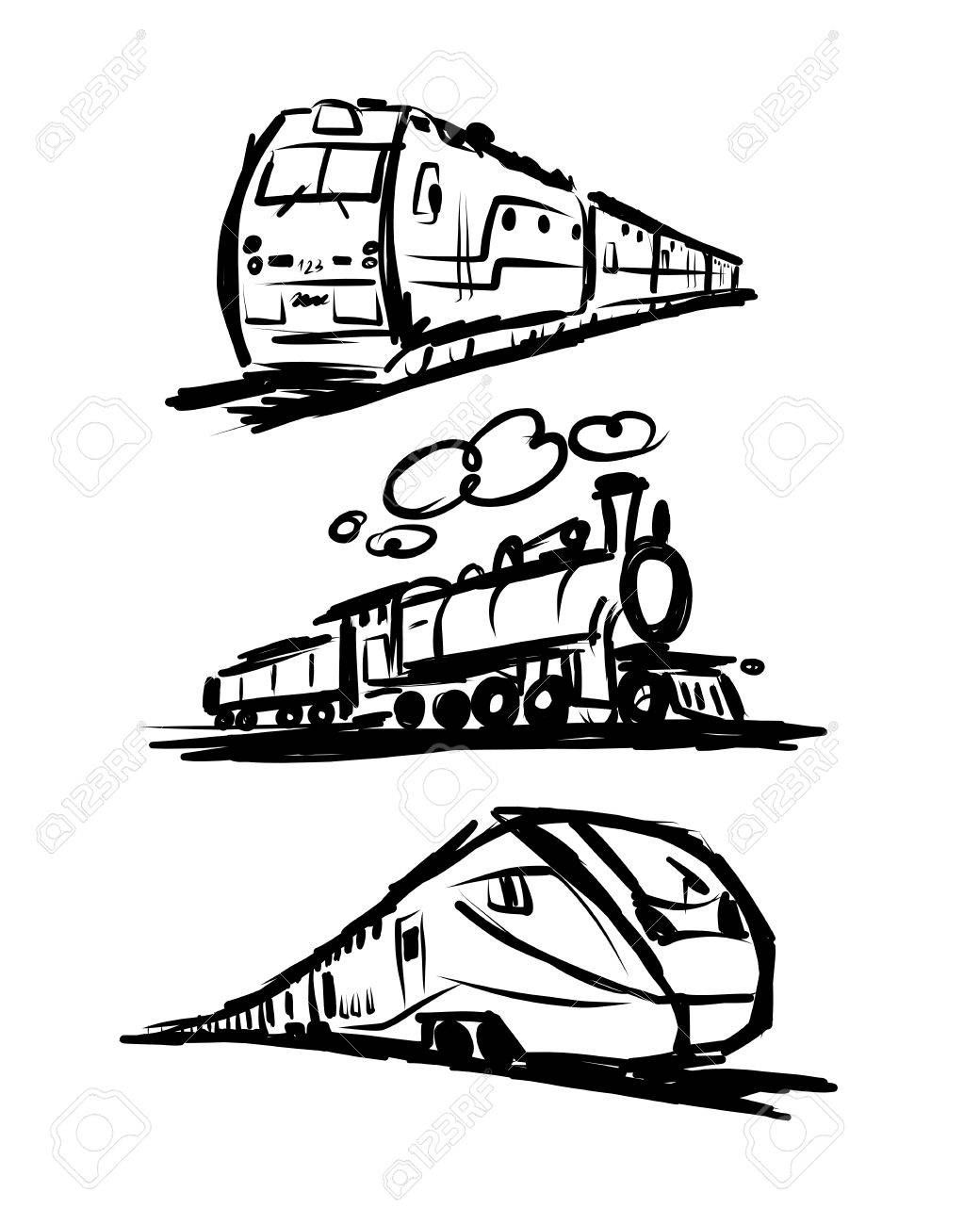 Train tracks across mexico clipart clip art free library Stock Vector | Doodle in 2019 | Train drawing, Train sketch ... clip art free library