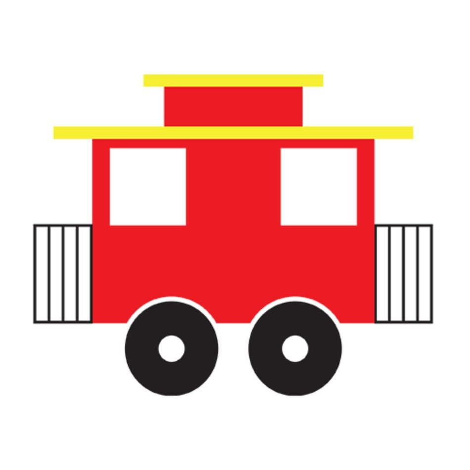 Train with a caboose clipart banner freeuse library Train Cars Caboose Clip Art free image banner freeuse library