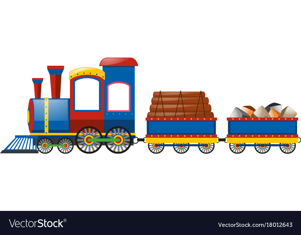 Train with many carts clipart clip transparent stock Train and two carraige carts clip transparent stock