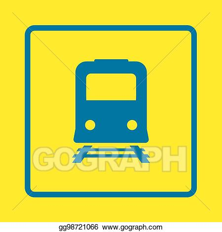 Train with many carts clipart jpg freeuse stock EPS Illustration - Train sign symbol. Vector Clipart ... jpg freeuse stock