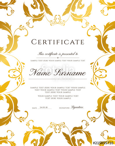 Training award clipart templates clipart library download Certificate template, gold border. Editable design for ... clipart library download