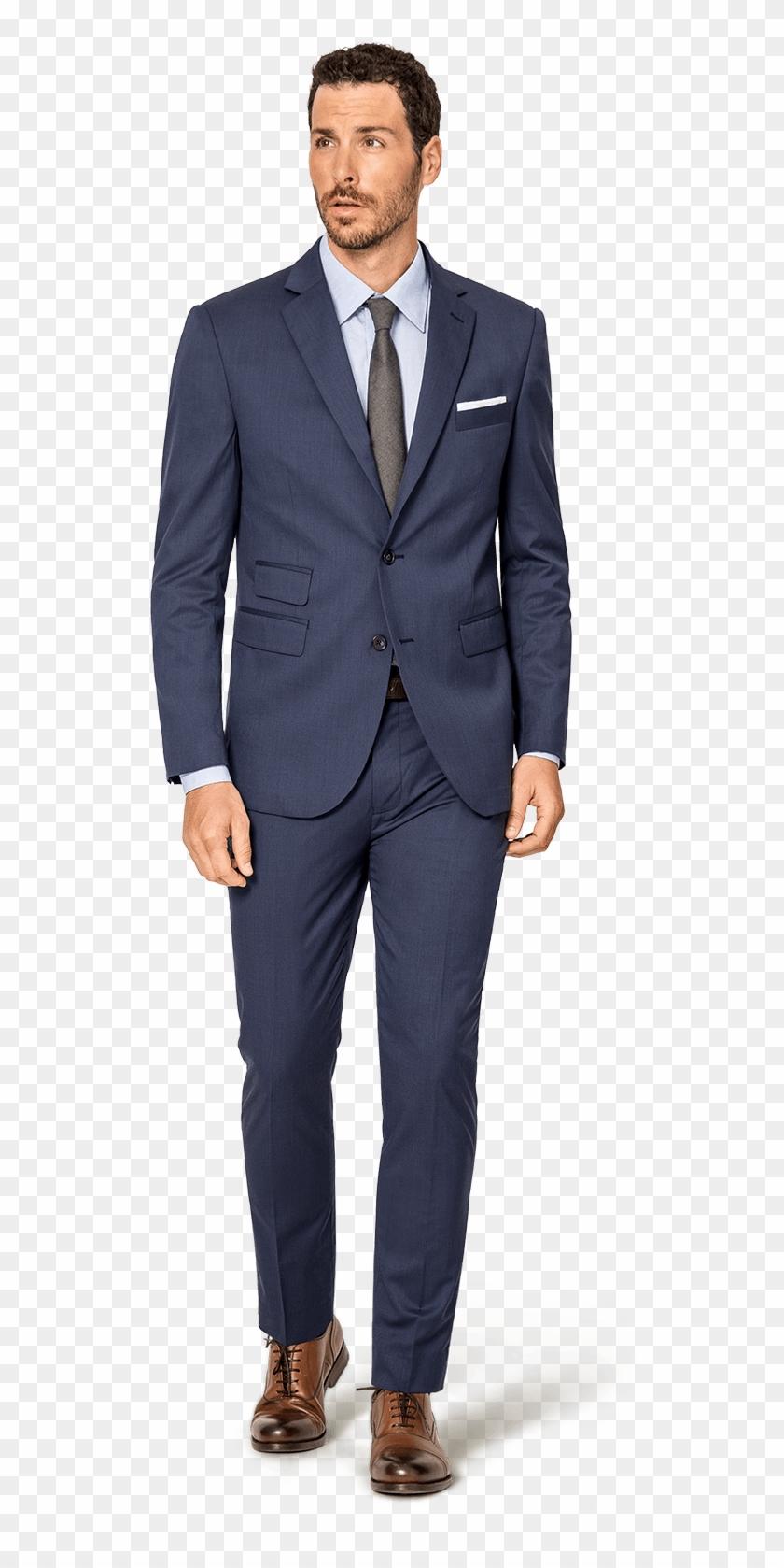 Blue Wool Custom Suit - Traje A Medida Hombre, HD Png ... clip art library download
