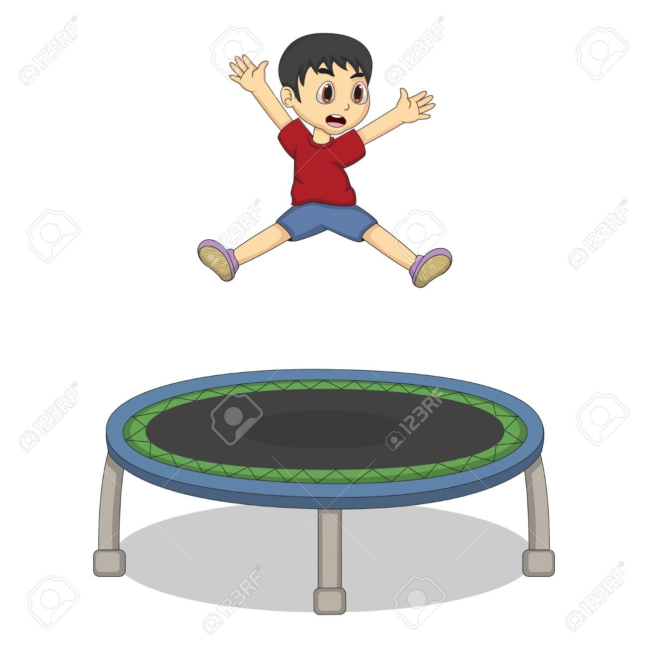 Trampline clipart graphic royalty free download Boy jumping on trampoline clipart 8 » Clipart Portal graphic royalty free download