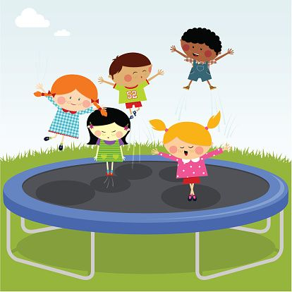 Kids jumping clipart banner royalty free Image result for kids jumping on trampoline clipart | Party ... banner royalty free