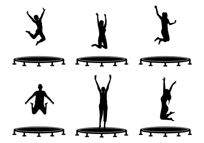 Trampoline skills clipart graphic library library Trampoline Clipart Black And White | Free download best ... graphic library library