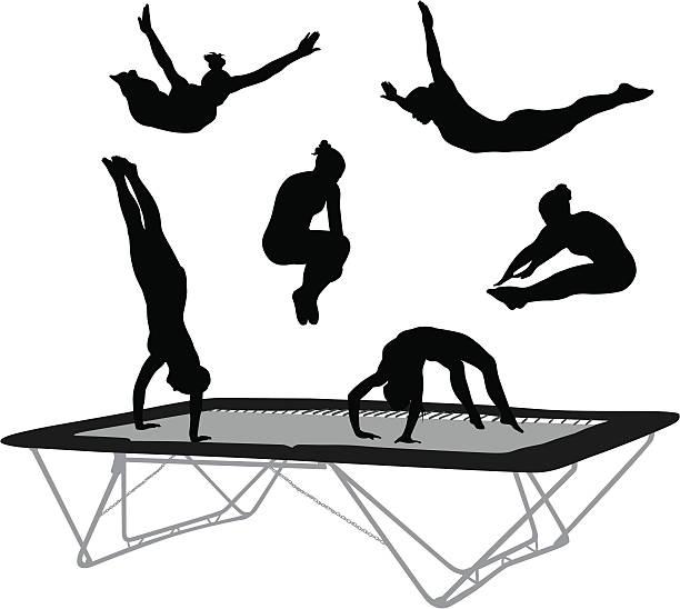 Trampoline skills clipart graphic black and white stock Trampoline Clipart Black And White | Free download best ... graphic black and white stock