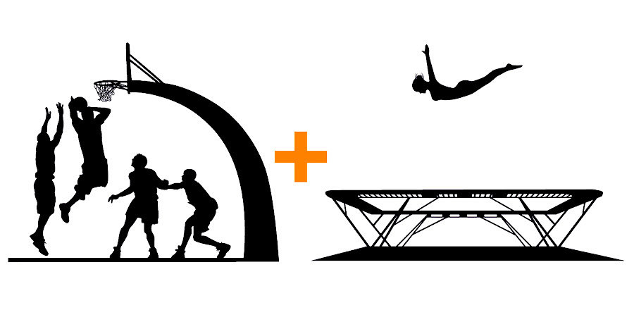 Trampoline skills clipart image royalty free Best Trampoline With Basketball Hoop - Top 4 For 2018 ... image royalty free