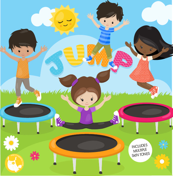 Trampoline skills clipart image black and white Trampoline Worksheets & Teaching Resources | Teachers Pay ... image black and white