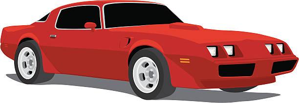 Pontiac Trans Am Firebird Vector Art Illustration - 212*612 ... clip royalty free download
