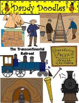 Transcontinental railroad clipart