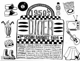 Transfer sheet clipart 1950s clip art royalty free Image result for 50s Diner Coloring Pages | Valentines in ... clip art royalty free