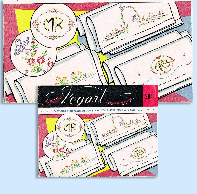 Transfer sheet clipart 1950s jpg free 1950s Vintage Vogart Embroidery Transfer 204 Uncut Mrs Mr ... jpg free