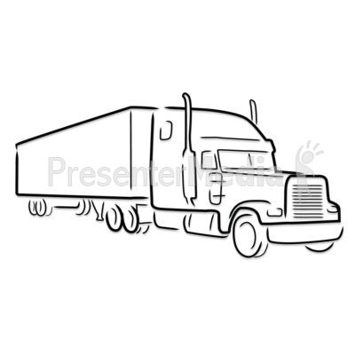 Transfer truck clipart svg black and white Free semi truck clipart black and white - ClipartFest svg black and white