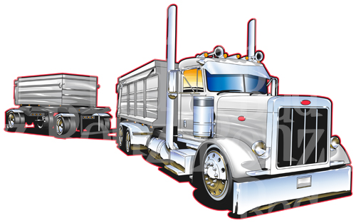 Transfer truck clipart svg royalty free Peterbilt 379 Truck Clipart - Clipart Kid svg royalty free