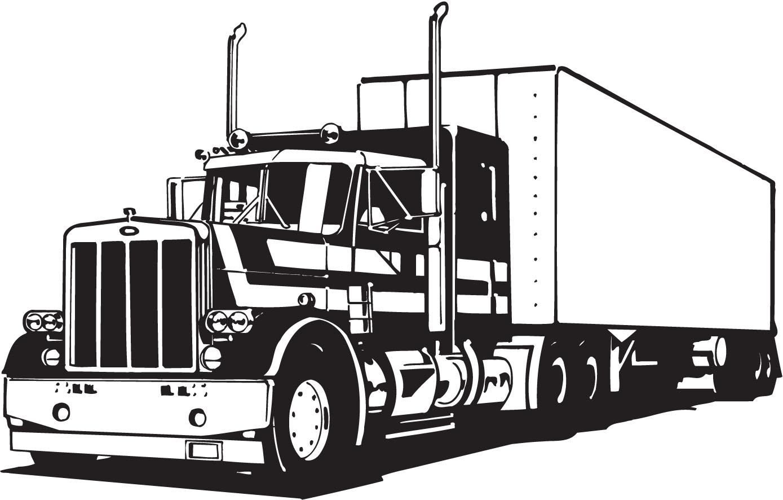 Transfer truck clipart clip Semi Truck Clipart - Clipart Kid clip