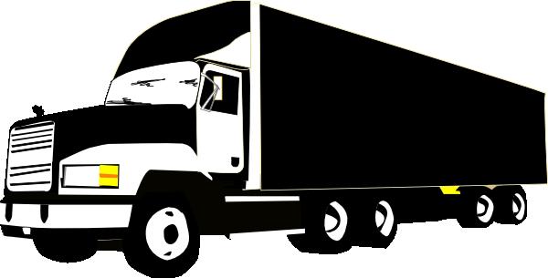 Transfer truck clipart clipart freeuse Semi truck silhouette clipart - ClipartFest clipart freeuse