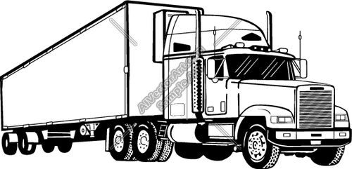 Transfer truck clipart svg free library semi truck drawings | Semi1 Clipart and Vectorart: Vehicles - Semi ... svg free library