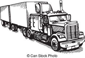 Transfer truck clipart graphic library Free semi truck clipart black and white - ClipartFest graphic library