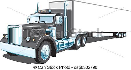 Transfer truck clipart vector freeuse library Semi truck Clip Art and Stock Illustrations. 2,658 Semi truck EPS ... vector freeuse library