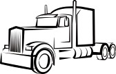 Transfer truck clipart png library Semi Truck Clipart Black And White | Clipart Panda - Free Clipart ... png library