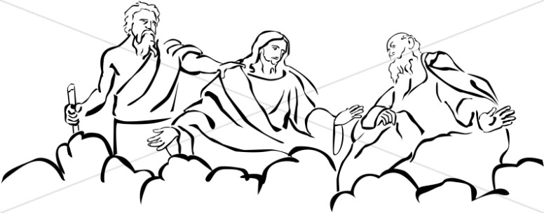 Moses and Elijah with Jesus at Transfiguration ... graphic freeuse library