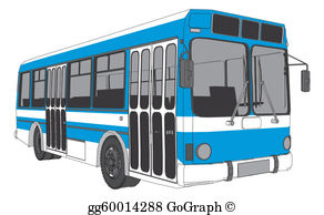 Transit bus clipart picture library library City Bus Clip Art - Royalty Free - GoGraph picture library library