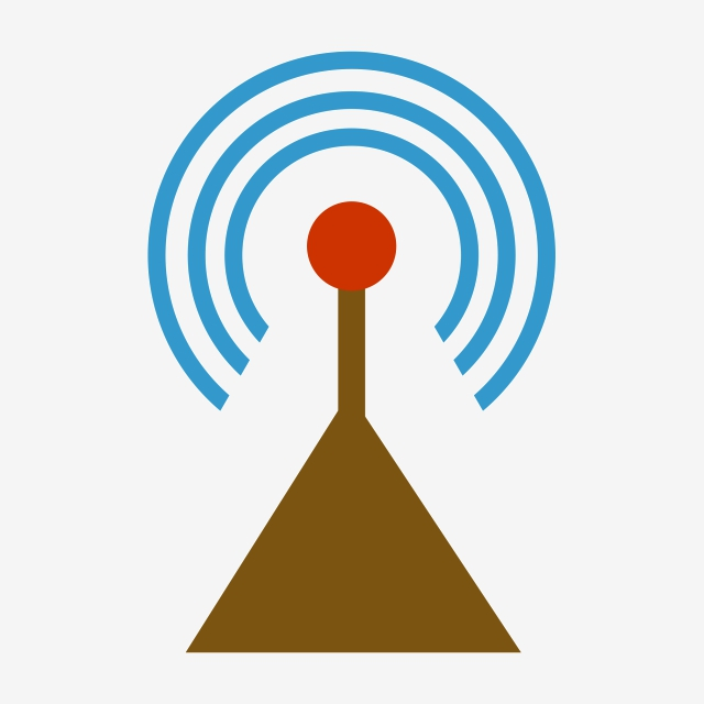 Vector Satellite Transmit Signal Receiving Signal, Vector ... banner transparent