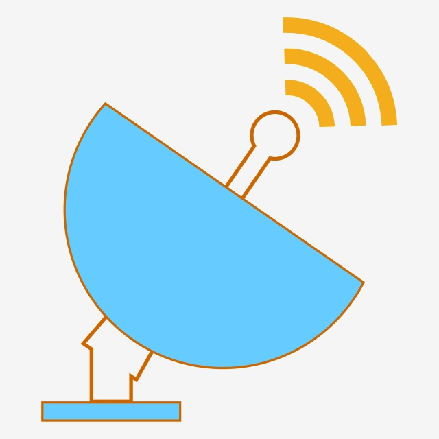 Vector Satellite Transmit Signal Receiving Signal, Vector ... clip art library