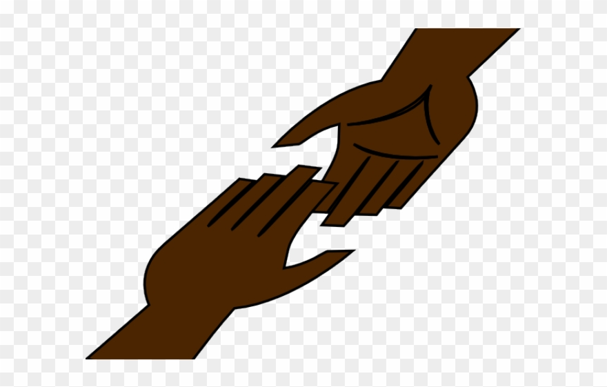 Religion Clipart Helping Hand - Helping Hands Transparent ... picture black and white