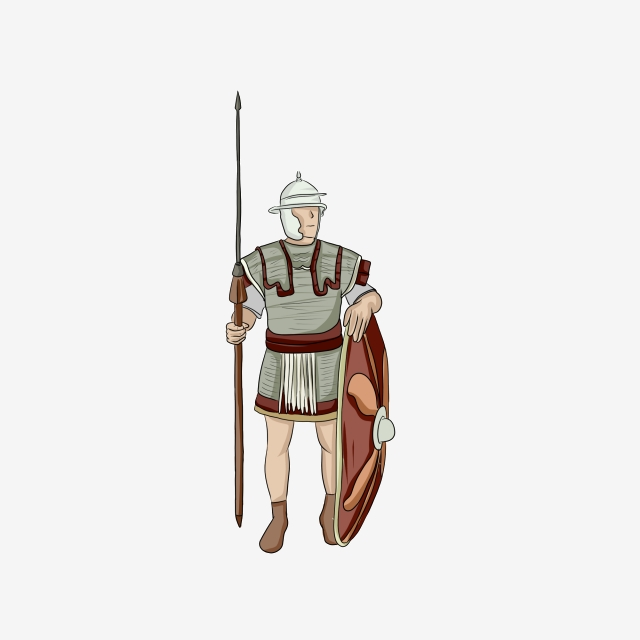 Transparency clipart soldier with shield vector free library Roman Centurion Soldier With Sword And Shield, Eps, White ... vector free library