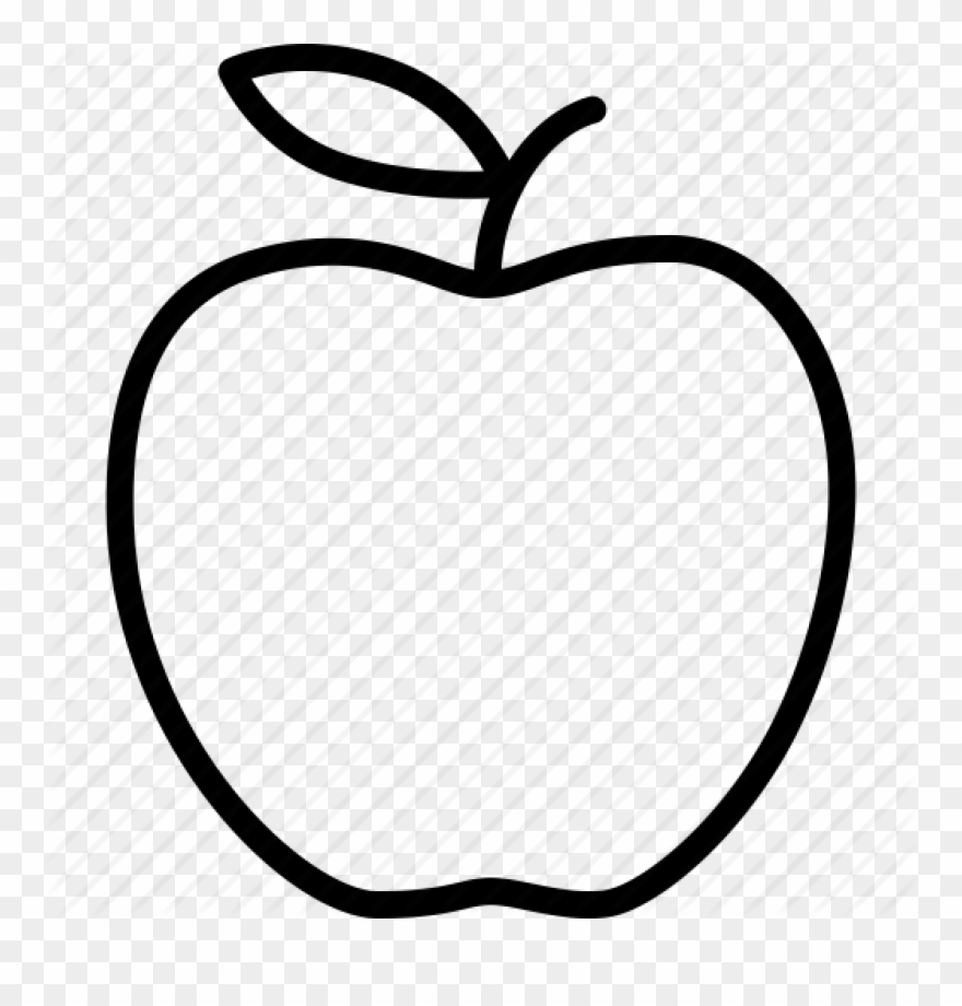 Transparent background black and white apple clipart vector free download Apple Clip Art Outline Apple Outline Vector Huge Freebie ... vector free download