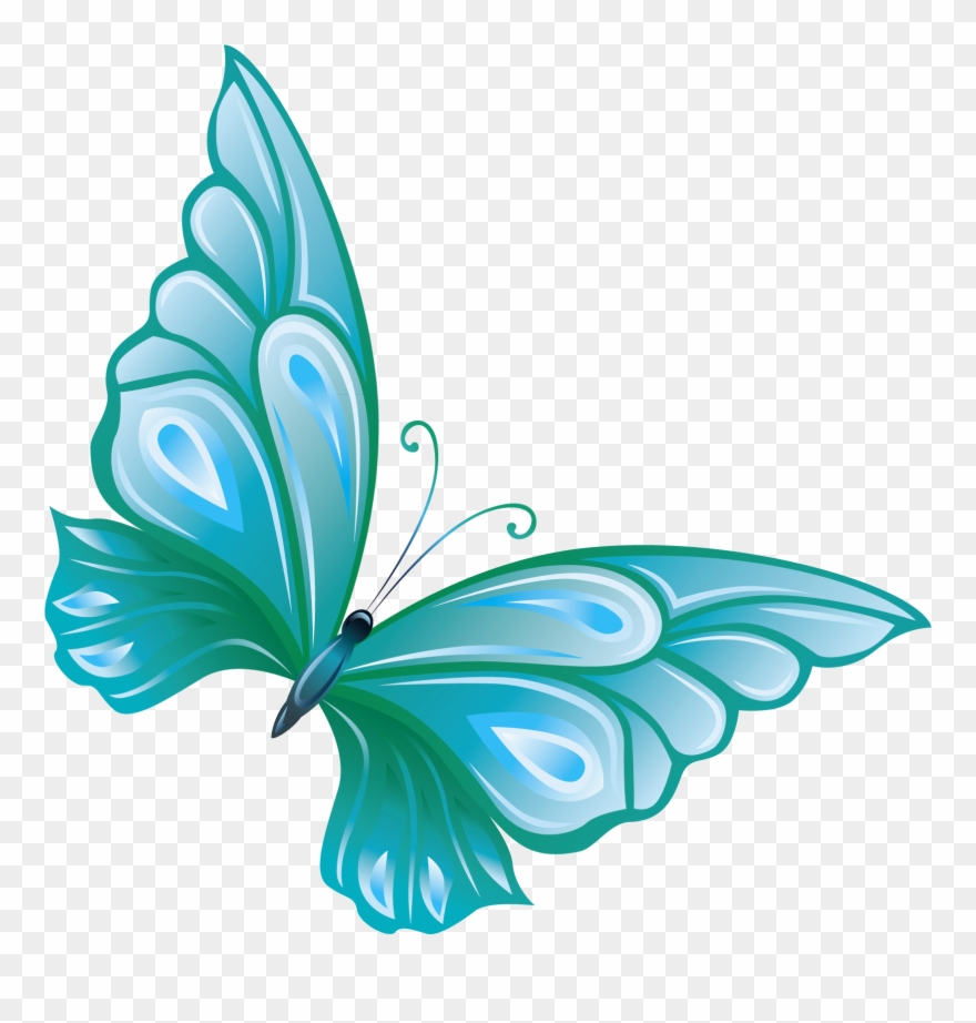 Transparent background butterfly clipart png banner transparent library Blue - Transparent Background Butterfly Clip Art - Png ... banner transparent library